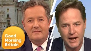 Nick Clegg Calls Piers Morgan 'Pompous' in Heated Debate | Good Morning Britain