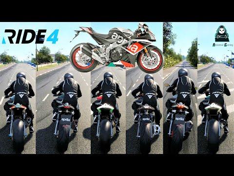 Top 6 Fastest Aprilia Bikes Top Speed Battle || Ride 4 || Stock |