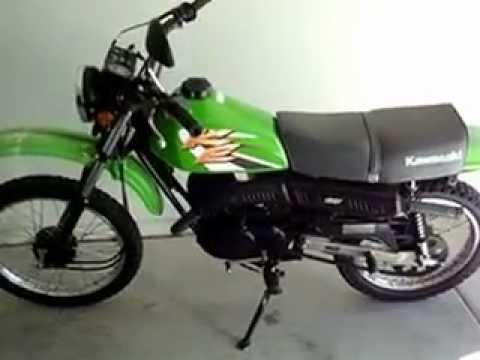 2001 Kawasaki KE100 start and view