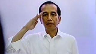 Video Viral Aksi Jokowi Hormat Sendiri saat Indonesia Raya Berkumandang Dipertanyakan