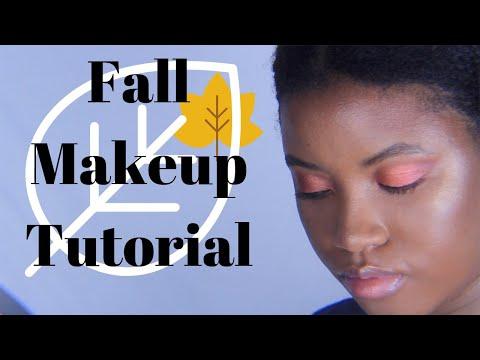 Orange Fall Makeup Tutorial | ImJustJazzmine thumbnail