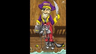 How to Draw ECU Pirate Forcing Wolfpack to Plank