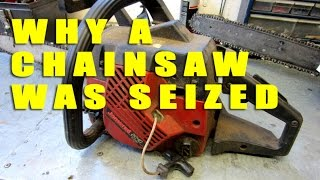 Quick Repair Of A Seized Jonsered 2040 Chainsaw