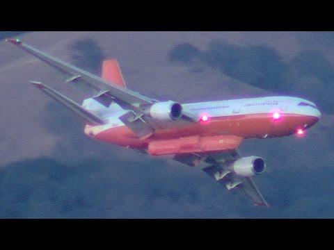 DC-10 Tanker at the Loma Fire Santa Cruz Mountains 9/27/16