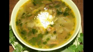 Суп из консервированных шампиньонов