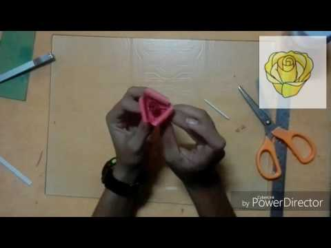 สิ่งประดิษฐ์จากกระดาษ : ดอกกุหลาบ