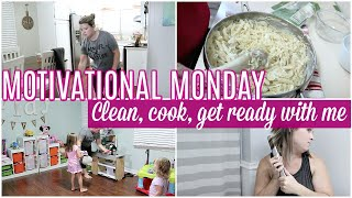 CLEAN WITH ME, COOK WITH ME, EASY ONE PAN MEAL   MOTIVATIONAL MONDAY