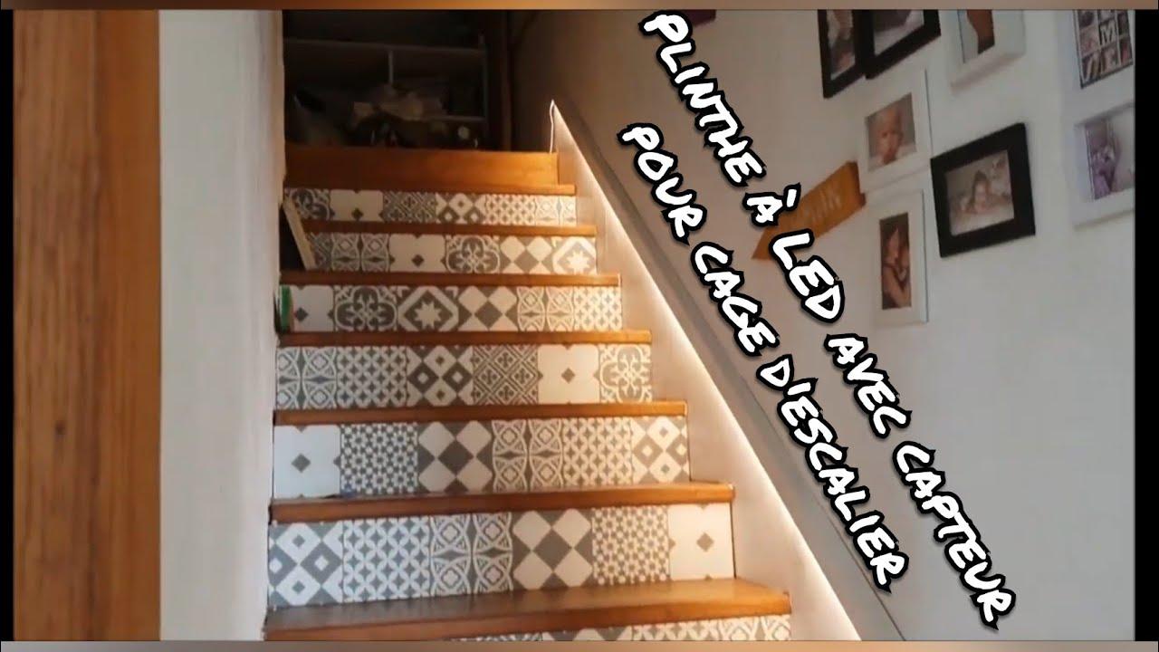 Comment Fabriquer Des Plinthes En Bois plinthe led pour cage d'escalier