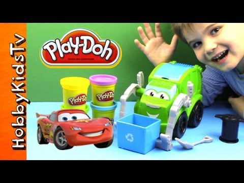 Play Doh Trash Tossin Rowdy Garbage Truck Battles