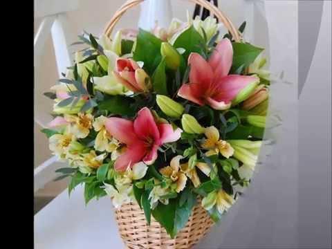 Цветочная композиция из лилий