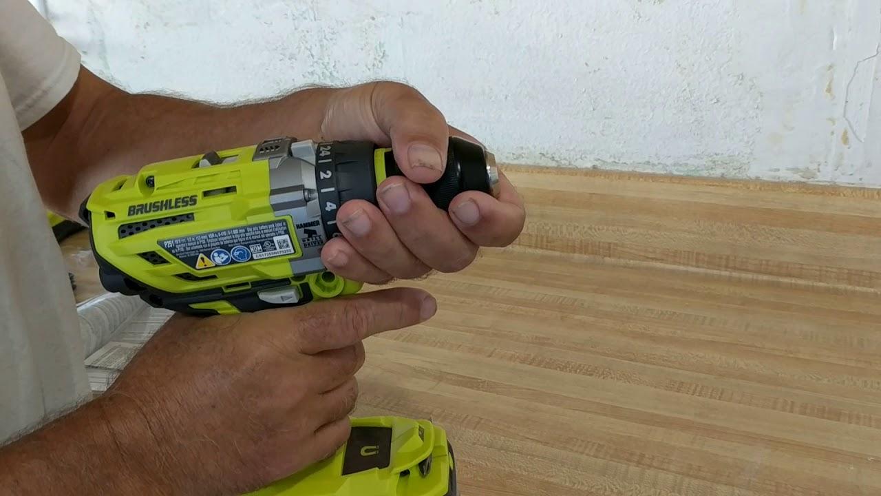 Unlocking the Drill Bit Chuck on my Ryobi Hammer Drill