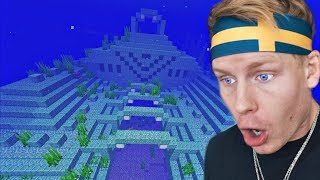 i spent 1 HOUR Underwater in this OCEAN TEMPLE in Minecraft