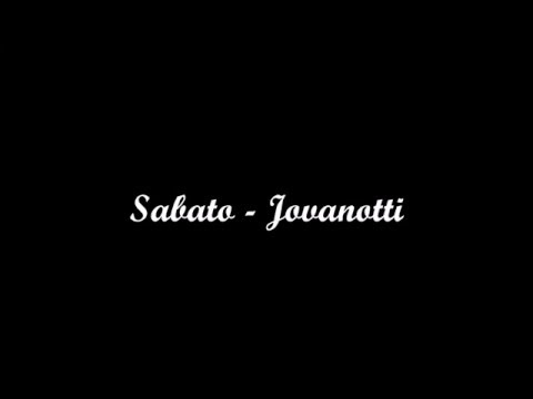 Sabato - Jovanotti [with lyrics]