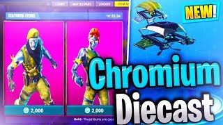 NEW Chromium SKIN // Diecast SKIN // FORTNITE BATTLE ROYALE