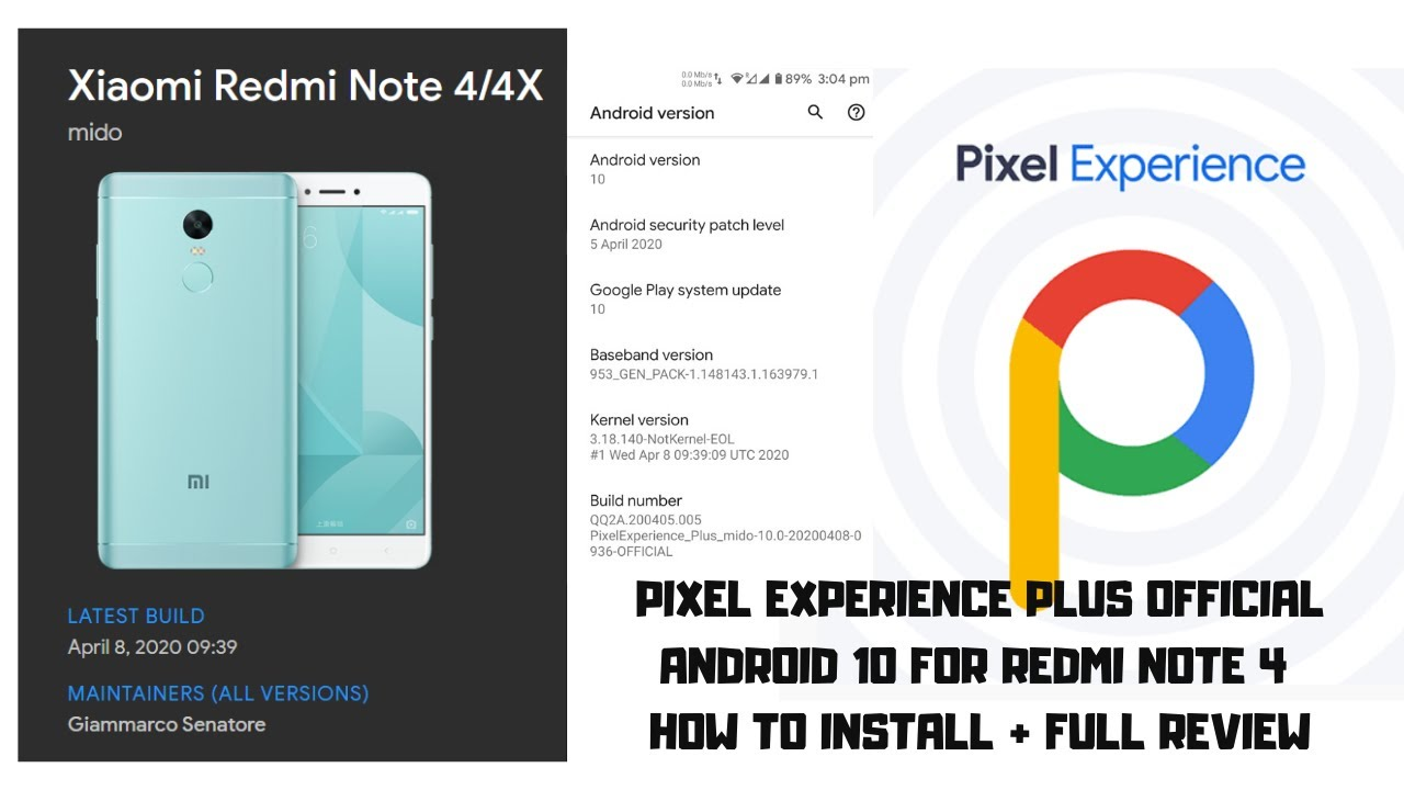 Pixel Experience Plus Official Android 10 For Redmi Note 4 How to Install + Full Review