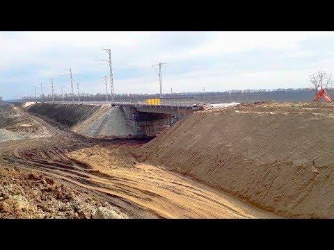ГНБ Прокол длиной 110 метров под железной дорогой