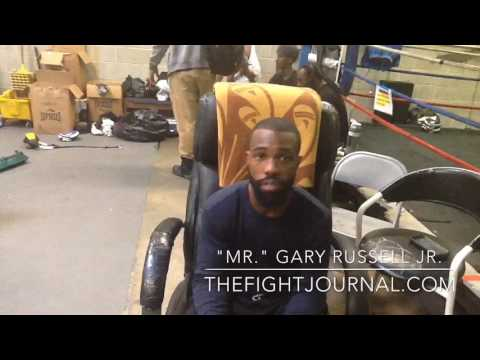 "Interview with ""Mr."" GARY RUSSELL JR:  Media Workout for MGM National Harbor card on May 20!"