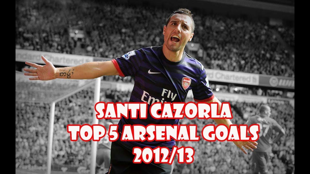 Santi Cazorla Top 5 Arsenal Goals 2012 13