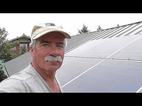 No Penetration (Part 1) Metal Roof Solar Panel Install !