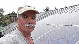 No Penetration (Part 1) Metal Roof Solar Panel Install !