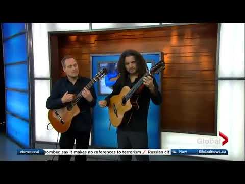 Johannes Linstead performs 'Azul' on Global TV