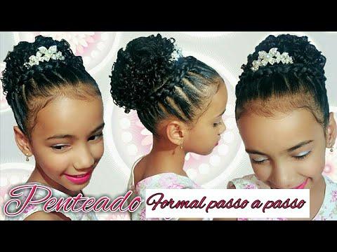 Penteado Infantil De Formatura Festa 15 Youtube