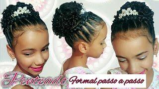 Penteado Infantil Princesa Arco De Trança Com Ligas De