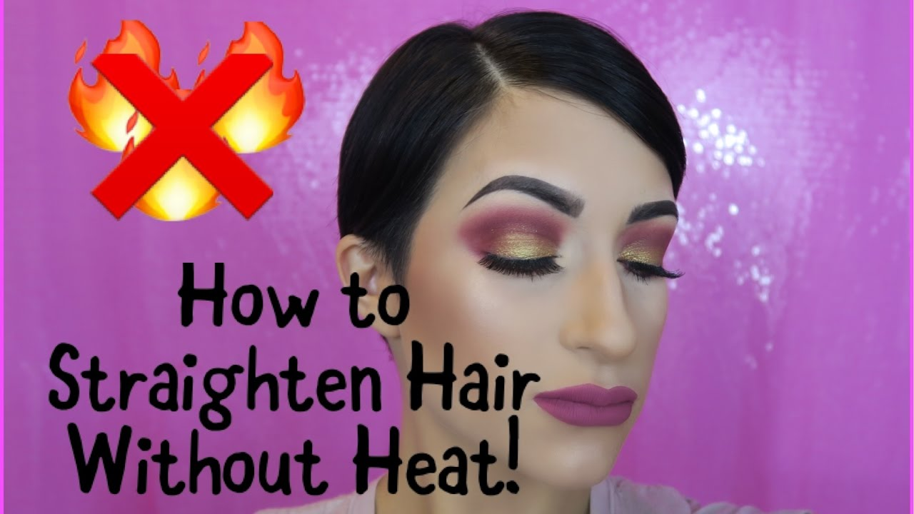 How To Straighten Short Hair Without Heat!