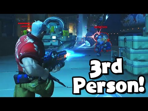 *NEW* 3RD PERSON OVERWATCH MODE..!! - Overwatch Workshop Funny & Fail Moments #2