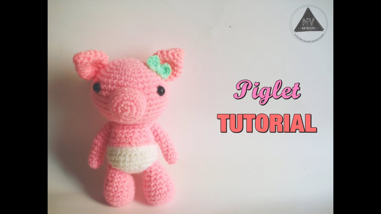 How To Crochet A Pig Amigurumi [FULL TUTORIAL] - YouTube