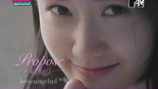 SNSD (Lee Seung Chul - Propose starring YoonA from Girls Generation)