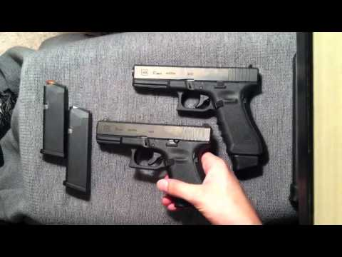 Glock 19 vs Ruger SR9c Bench top Review by Green Handle Guy