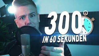 300 WORTE in 1 MINUTE rappen! (Rezo, Danergy) CHALLENGE