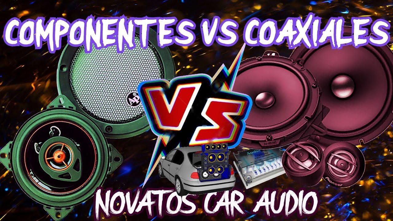 COMPONENTES VS COAXIALES CAR AUDIO PARA NOVATOS
