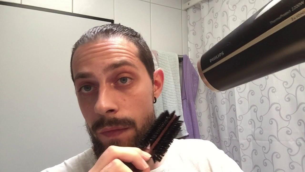 tuto barbe #2] faire un brushing (lisser) à sa barbe - youtube