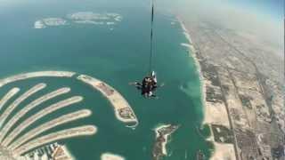 SkyDive Foued SuperMan Dubai Palm Jumeirah