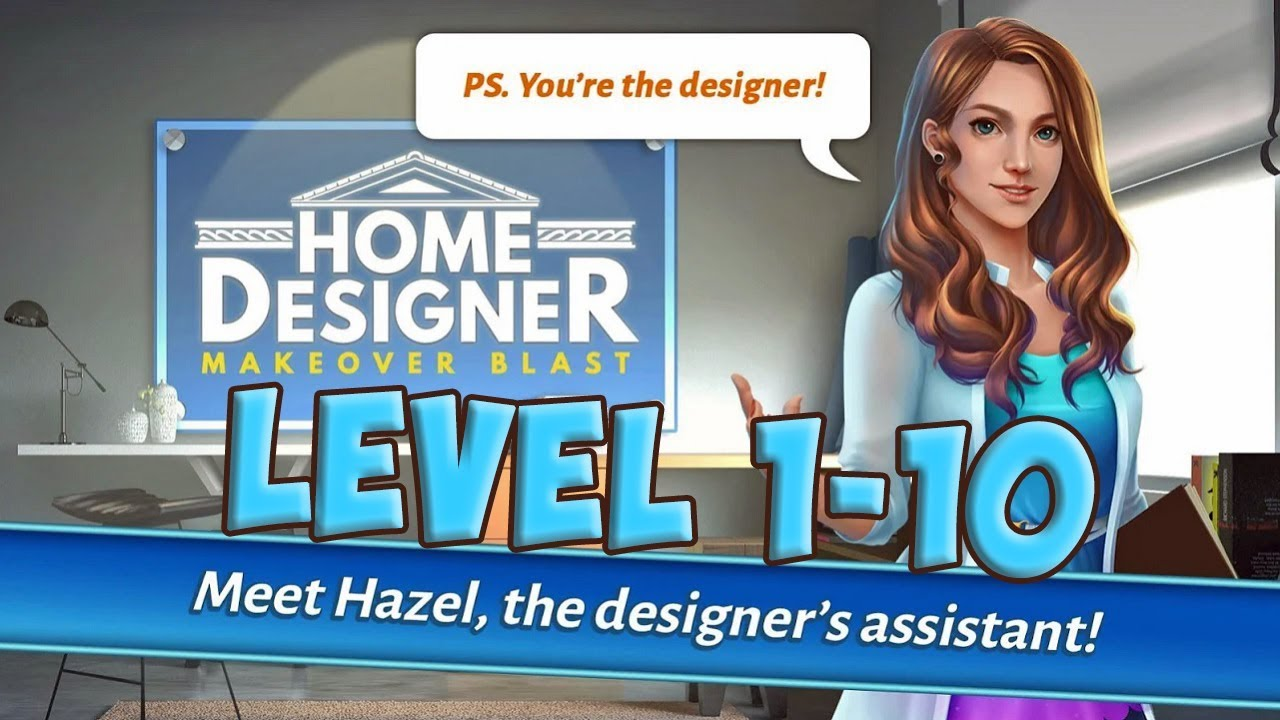 Home designer blast match makeover level 1 10 gameplay story hd