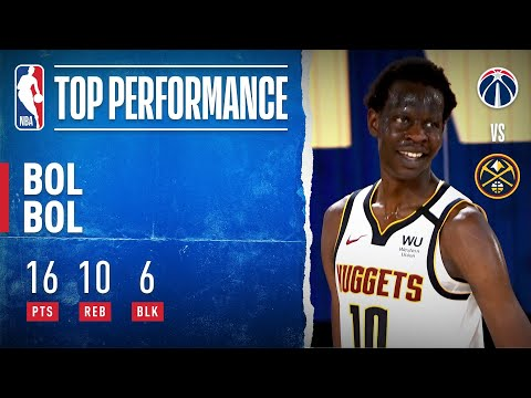 Bol Bol Shows Versatility In First NBA Action