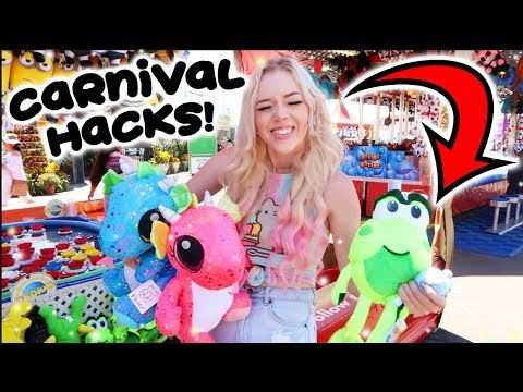 CARNIVAL GAME HACKS! How to win BIG prizes! Orange County Fair