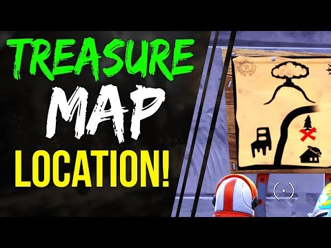 Fortnite Battle Royale DUSTY DEPOT TREASURE MAP LOCATION WEEK 1 BATTLE PASS season 3