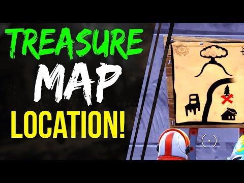 Fortnite Battle Royale DUSTY DEPOT TREASURE MAP LOCATION WEEK 1 BATTLE PASS season 3