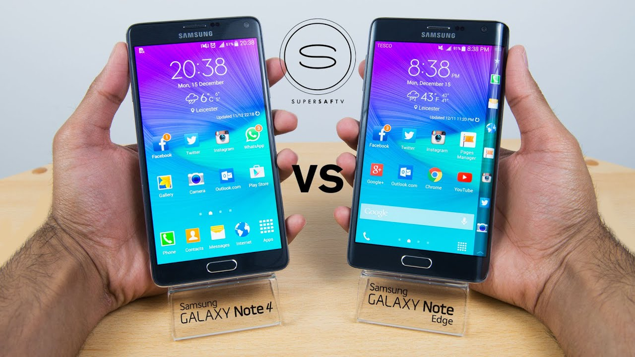 samsung galaxy note edge vs note 4 review comparison youtube