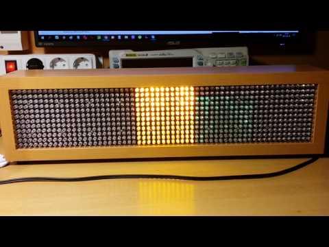 DIY 5-channel 720LEDs light organ sweep test
