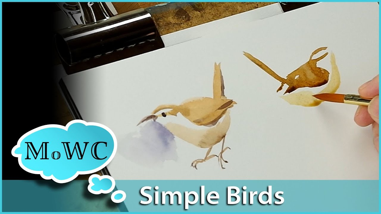How to Paint Birds in Watercolor – Simply, Quickly and Expressively ...