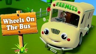 Колеса на автобусе | России рифмы | автобусная песня | Wheels On The Bus