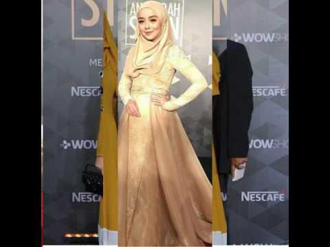 Hijab red carpet style dresses