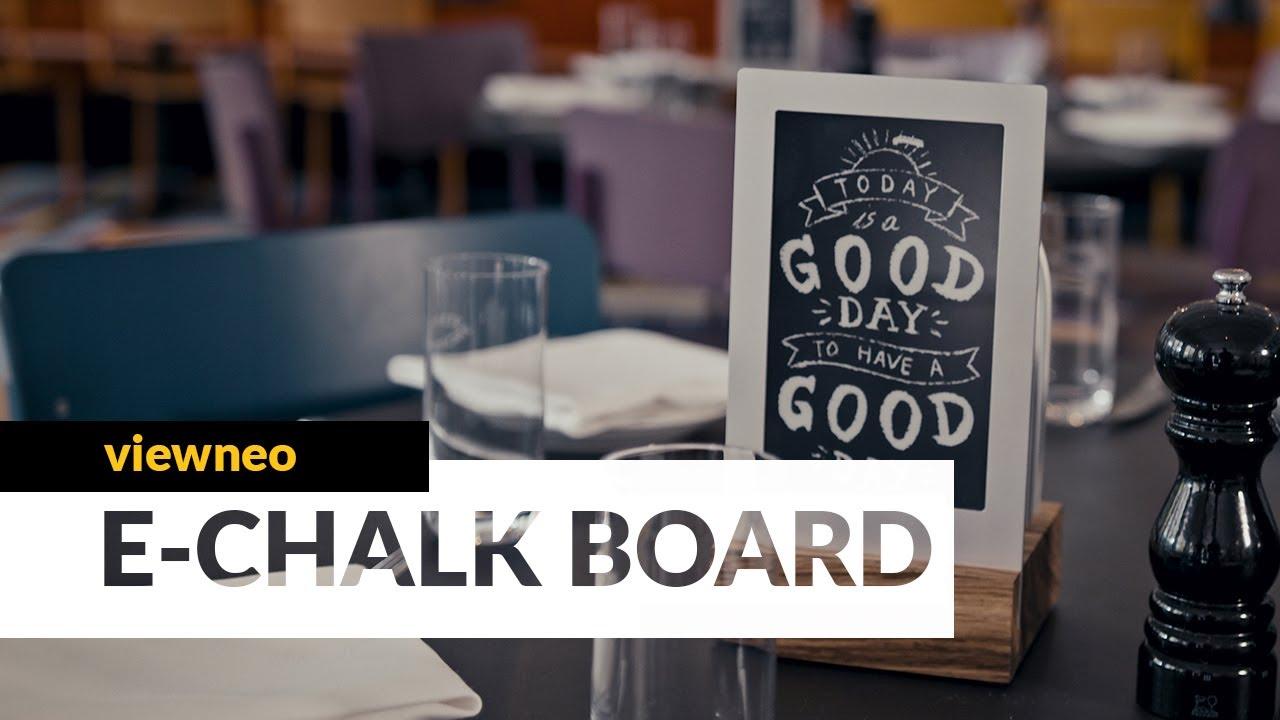 viewneo E-Chalk Board: the latest in restaurant technology