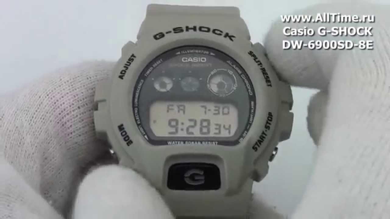 casio g-shock dw-6900nb-1e инструкция