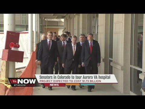 Senators visiting over-budget VA hospital