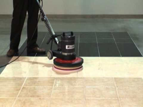 Compact floor buffer floor polisher youtube for Floor polisher